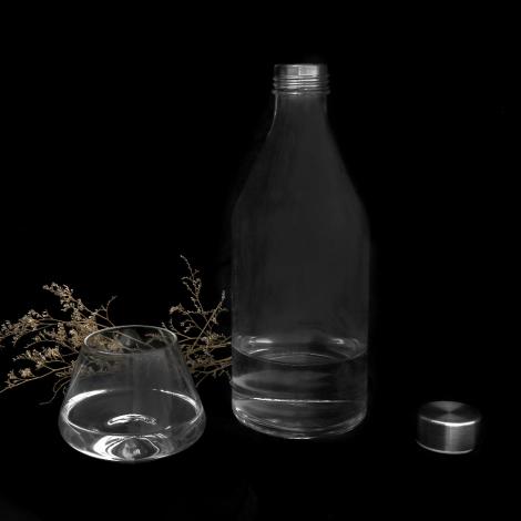Bouteille à personnaliser en verre 1 L - Minéral