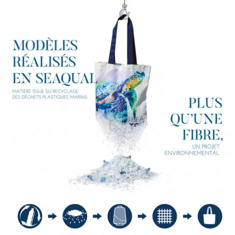 Sac ou Trousse pub 55% coton recyclé et 45% Seaqual™