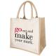 Sac shopping personnalisable en jute et coton 320 gr - Kalyan