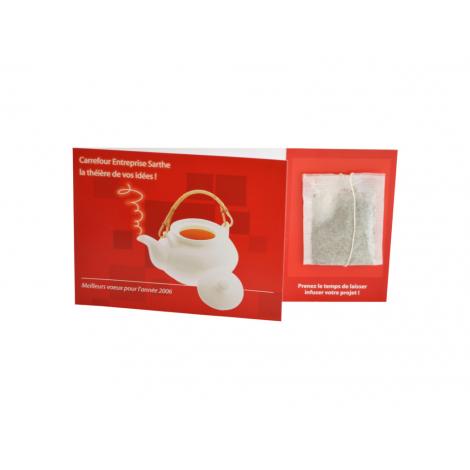 Carte personnalisable avec sachet de thé