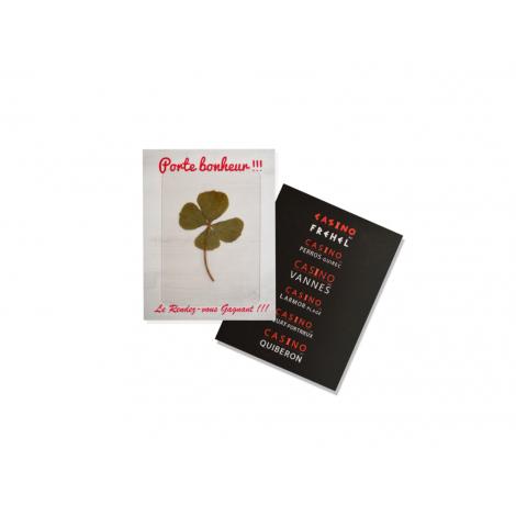 Carte chance publicitaire - Trèfle à 4 feuilles