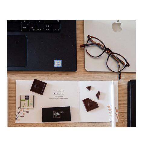 Carré chocolat bio avec carte personnalisable