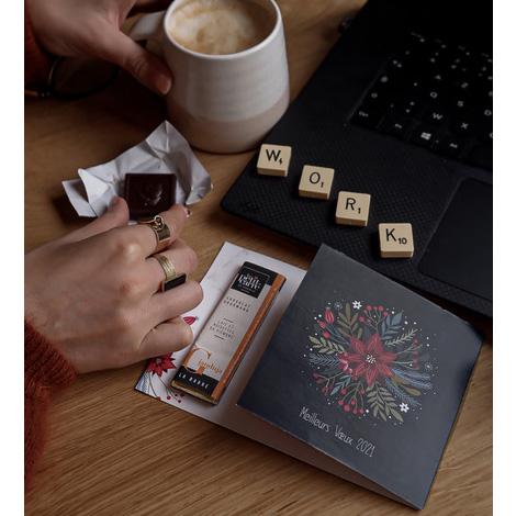 Barre de chocolat 10 g avec carte personnalisée
