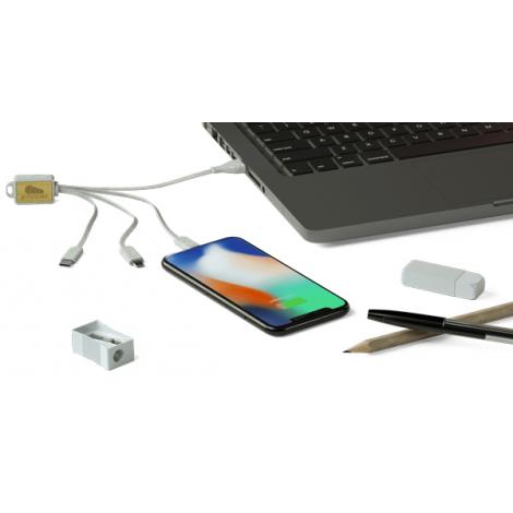 Câble USB publicitaire en fibre de blé - Grain