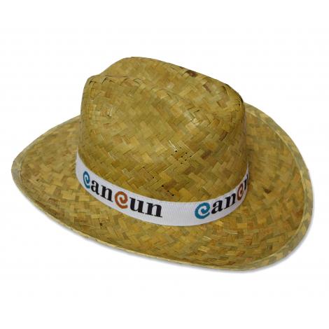 Chapeau publicitaire en paille - VAQUERO