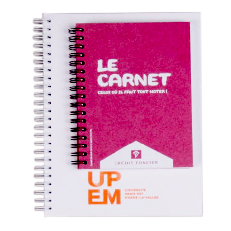 Cahier publicitaire fabriqué en France