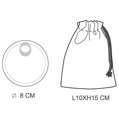 Pochon personnalisé avec 2 disques démaquillants