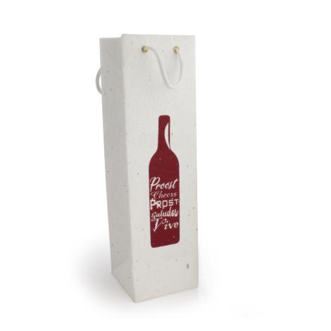 Sac bouteille papier graines personnalisé