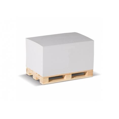 Cube papier sur palette personnalisé - 12 x 8 cm