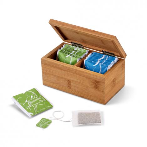 Boîte à thé en Bambou personnalisable