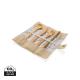 Couverts publicitaires en bambou