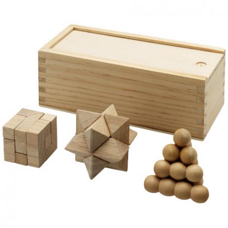 Casse-tête publicitaire chinois en bois 3 pièces
