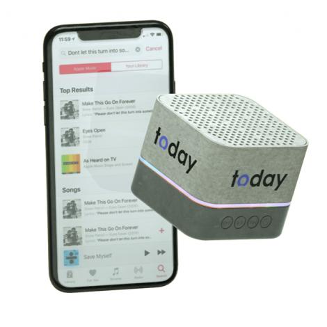 Mini enceinte personnalisée en fibre de blé 3W - Dry