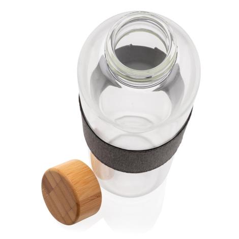Bouteille en verre publicitaire et bambou 750 ml