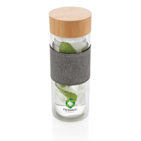 Bouteille àdouble paroi en verre personnalisée 360 ml Impact