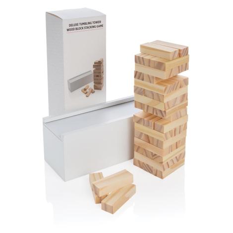 Jeu de blocs publicitaire en bois Deluxe