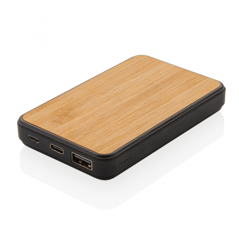 Powerbank nomade publicitaire 5000 mAh - Bambou