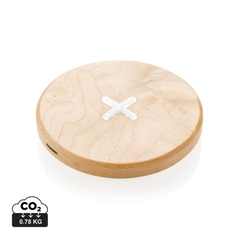 Chargeur à induction publicitaire en bois