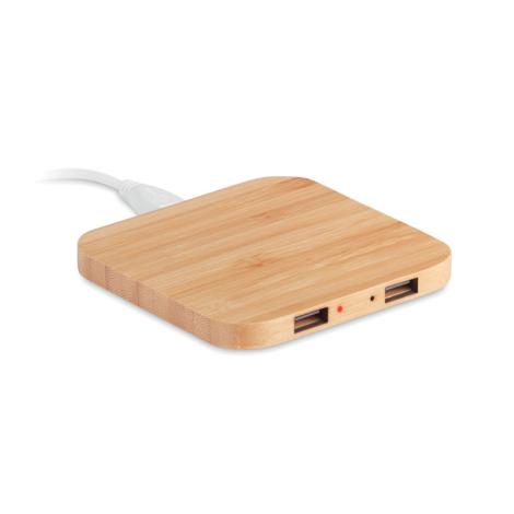 Chargeur par induction publicitaire en bambou - Cuadro