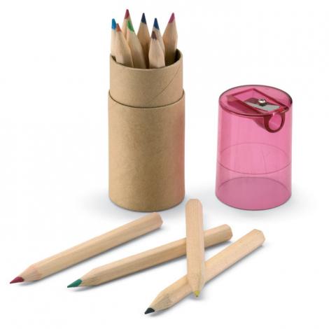 Tube de 12 crayons de couleur publicitaire - Lambut