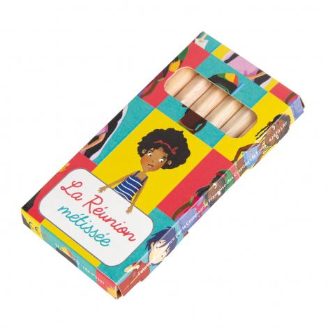 Etui carton de 12 crayons de couleur - 8,7 cm