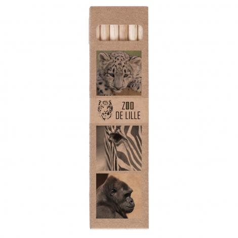 Set 6 ou 12 crayons aquarelle 17,6 cm - sans vernis personnalisable
