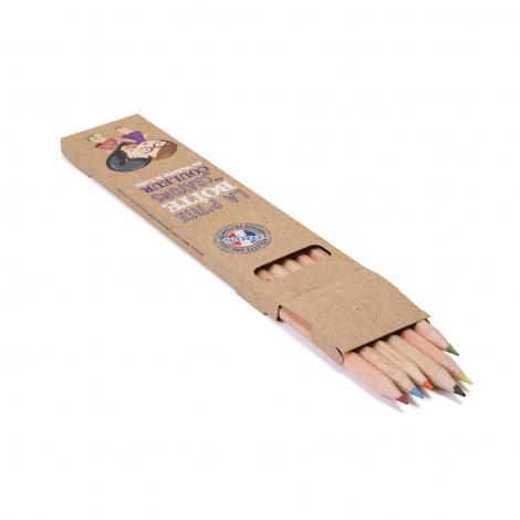 Etui personnalisable 6 ou 12 crayons sans vernis 17.6 cm