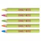 Crayon fluo personnalisable vernis pantone 8.7 cm