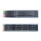 Sachet 4 fluo publicitaires Prestige Black 17.6 cm