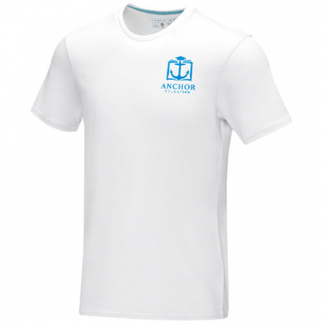 T-shirt homme bio GOTS publicitaire Azurite