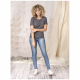T-shirt femme bio GOTS publicitaire Azurite