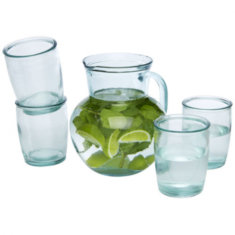 Pichet et verres recyclés personnalisés Terazza
