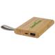 Batterie externe en bambou publicitaire 5000mAh Tulda