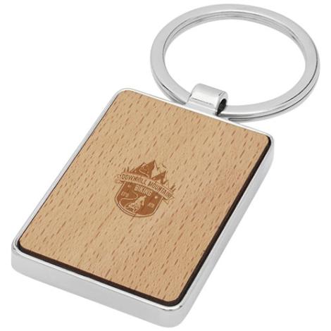 Porte-clés bois de hêtre publicitaire Mauro