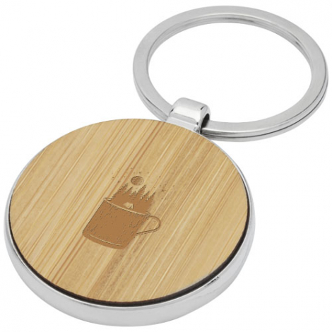 Porte-clés en bambou personnalisé Nino