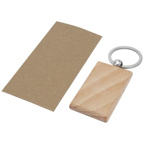 Porte-clés bois de hêtre personnalisable Gian