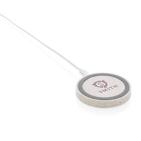 Chargeur personnalisé sans fil en fibre de paille 5W