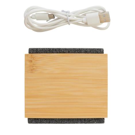 Enceinte personnaliséé en bambou 5W Wynn