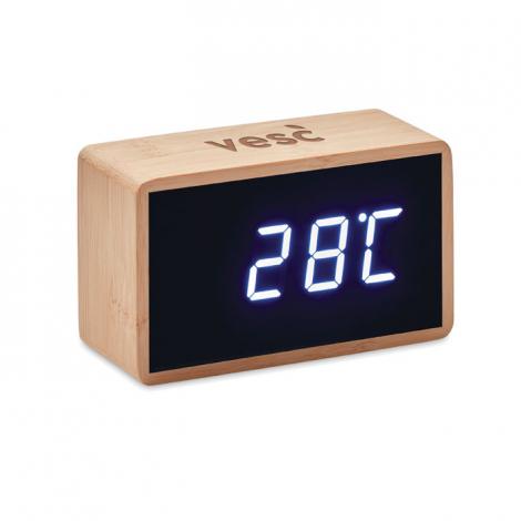 Réveil en bambou personnalisable MIRI CLOCK