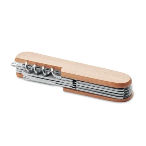 Couteau en bambou publicitaire multi-outils