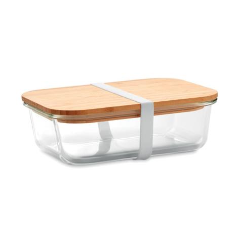 Lunchbox publicitaire en verre et bambou TUNDRA