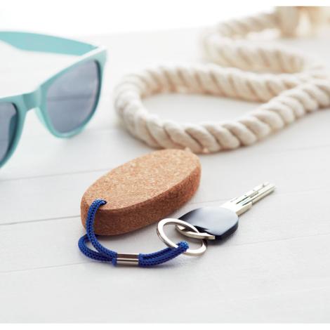 Porte-clés flottant en liège personnalisé