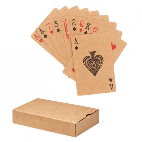 Cartes à jouer publicitaire en papier recyclé