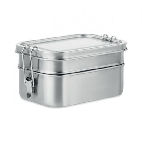 Lunch box publicitaire en acier inox DOUBLE CHAN