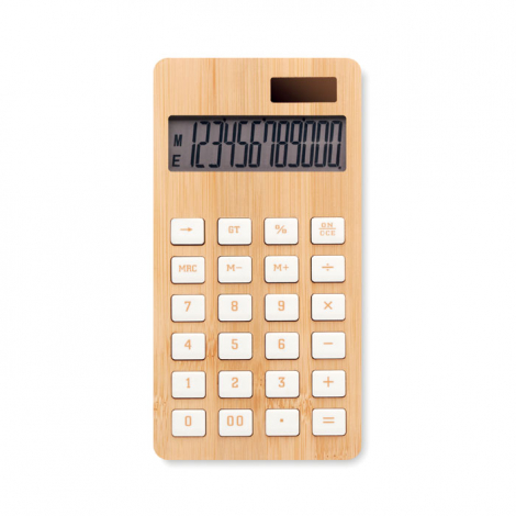 Calculatrice bambou personnalisée CALCUBIM