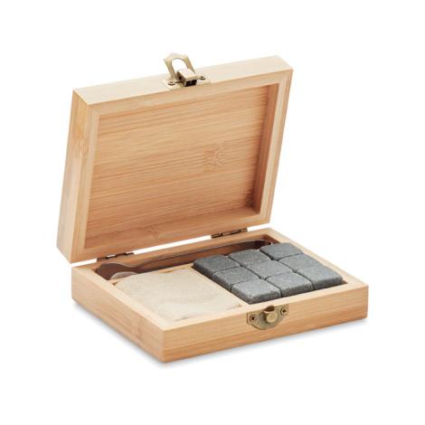 Set whisky publicitaire avec boîte bambou DUNDALK