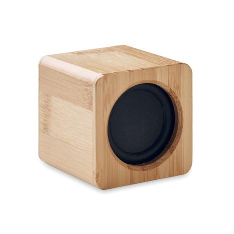 Mini enceinte en bambou publicitaire 3W AUDIO