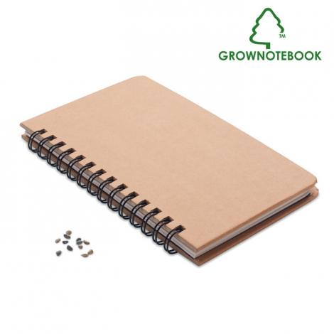 Carnet graines de pin publicitaire GROWNOTEBOOK™