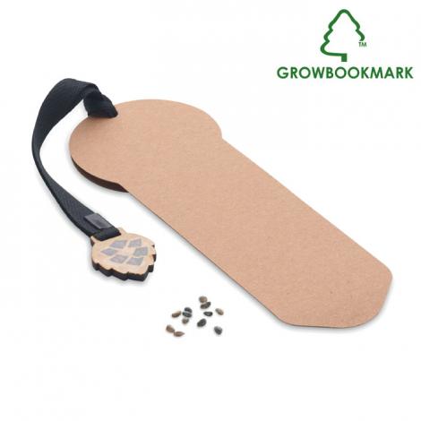 Marque page graines de pin publicitaire GROWBOOKMARK™