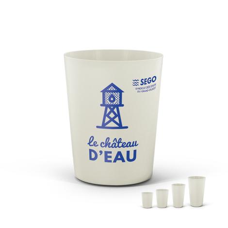 Gobelet publicitaire réutilisable 120 ml - BIO